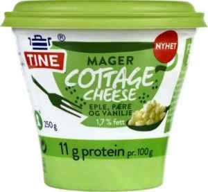 Prøv også Tine Mager Cottage Cheese eple/pære/vanilje.