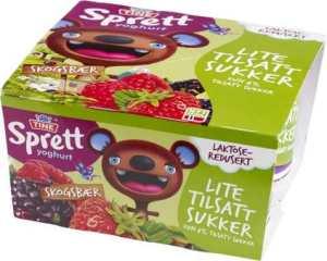 Prøv også Tine sprett yoghurt skogsbær.
