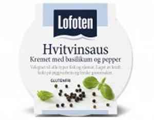 Bilde av Lofoten Hvitvinsaus – Kremet med basilikum og sort pepper.