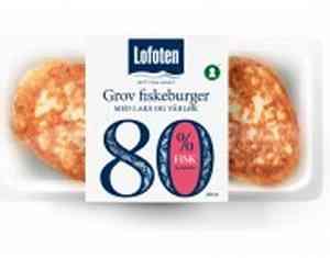 Prøv også Lofoten 80 % Grov Fiskeburger med laks og vårløk.