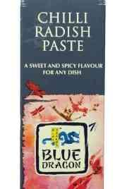 Prøv også Blue Dragon chilli radish paste.
