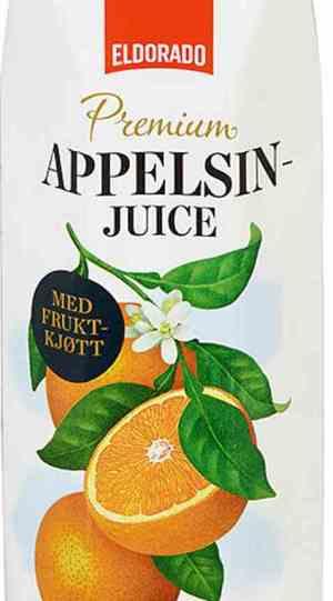 Prøv også Eldorado appelsinjuice m/fruktkjøtt.
