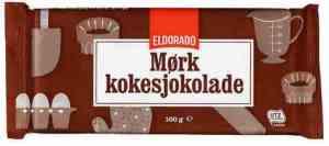 Bilde av Eldorado kokesjokolade mørk.