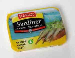 Prøv også Eldorado sardiner - Brisling i olje.