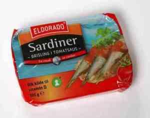 Prøv også Eldorado sardiner - brisling i tomat.