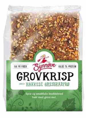 Prøv også Synnøve Grovkrisp med Hakkede Gresskarfrø Sesamfrø og Linfrø.