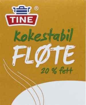 Prøv også Tine kokestabil fløte 20%.