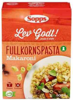Prøv også Sopps Makaroni Fullkorn.