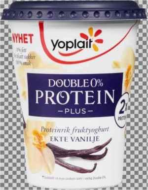 Prøv også Yoplait Double 0% Protein Plus Vanilje.