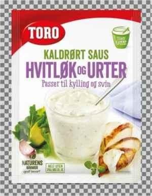 Prøv også Toro kaldrørt hvitløk og urtesaus.