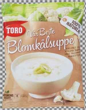 Prøv også Toro vår beste blomkålsuppe.