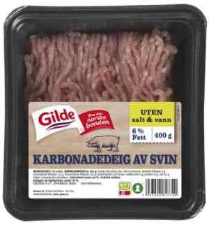 Prøv også Gilde Karbonadedeig av svin uten salt og vann.