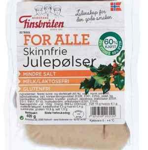 Prøv også Finsbråten for alle skinnfrie julepølser.
