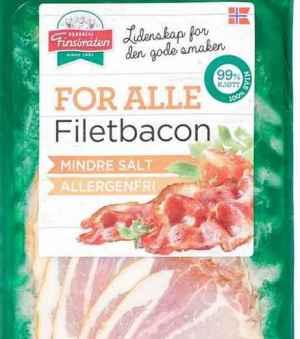 Prøv også Finsbråten for alle filetbacon.