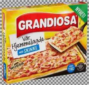 Prøv også Grandiosa Vår Hjemmelagde med skinke.