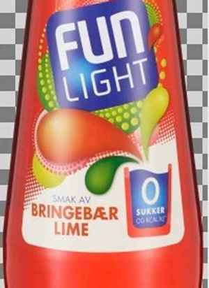 Prøv også Fun Light Bringebær lime.