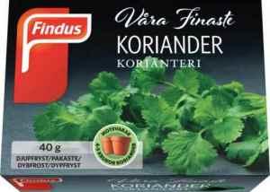 Prøv også Findus koriander.