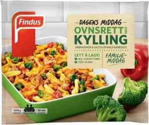 Prøv også Findus ovnsrett med kylling.