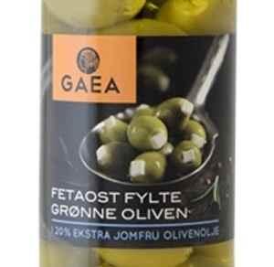 Bilde av Gaea Grønn Oliven med fetaost.