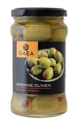 Bilde av Gaea Grønn Oliven med pimiento.