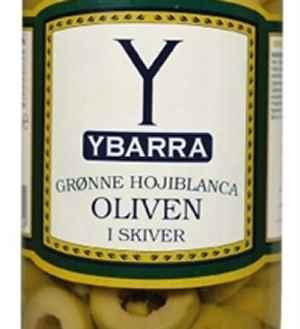 Bilde av Ybarra Grønne Oliven i skiver.