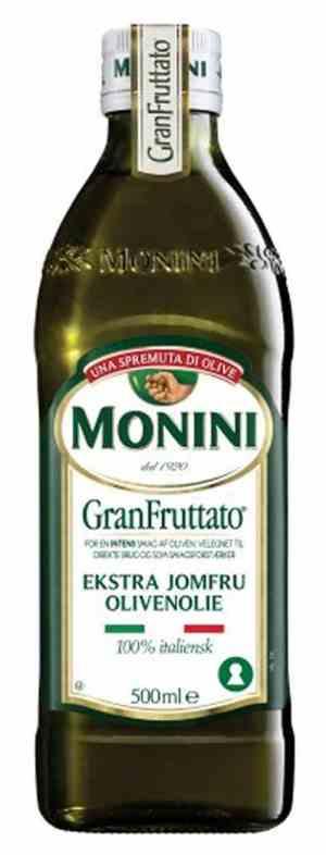 Prøv også Monini Gran Fruttato ex.virgin olivenolje.