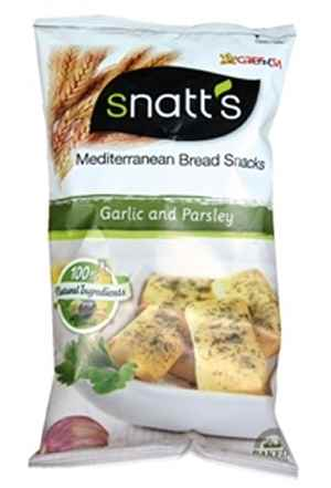 Bilde av Snatts Mediterranean Bread Snacks Garlic & Parsley.