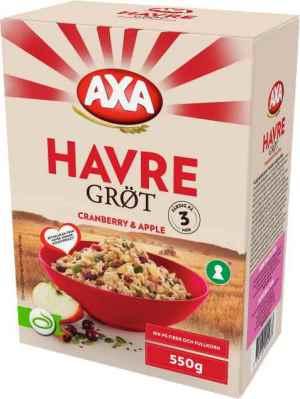 Prøv også Axa Havregrøt Tranebær & Eple.