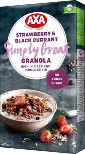 Prøv også Axa strawberry and black currant granola.