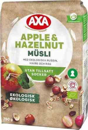 Prøv også Axa økologisk frukt og nøttemusli.