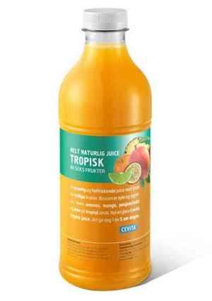 Prøv også Cevita helt naturlig tropisk med pasjonsfrukt.