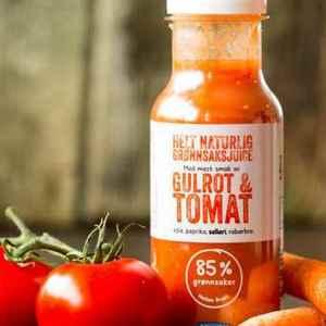 Prøv også Cevita helt naturlig grønnsaksjuice med mest smak av gulrot og tomat.