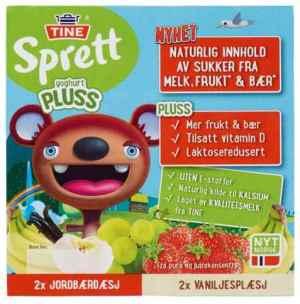 Prøv også Tine Sprett PLUSS Yoghurt Jordbærdæsj.