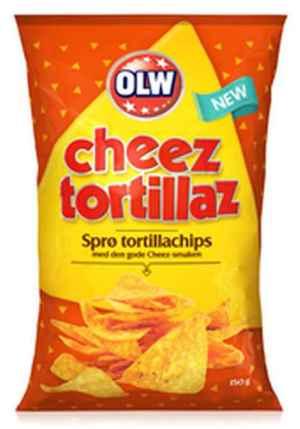 Prøv også Olw cheez tortillaz.