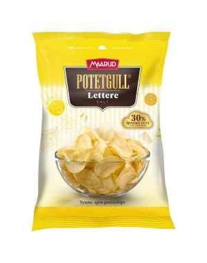 Prøv også Maarud Potetgull® lettere salt.