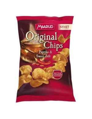 Prøv også Maarud original chips paprika og sweet chili.