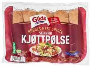 Prøv også Gilde Kjøttpølse Skinnfri.
