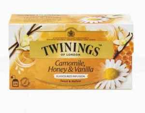 Prøv også Twinings Kamille, honning og vaniljete.