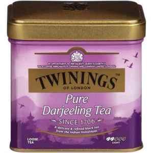 Prøv også Twinings Darjeeling metallboks.