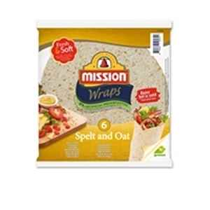 Prøv også Mission Fresh and Soft Spelt and Oat Wrap.