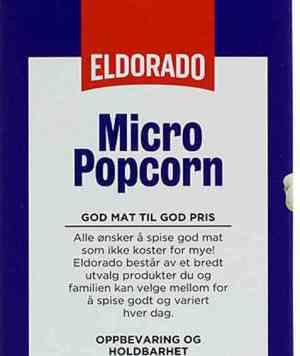Prøv også Eldorado micropopcorn usaltet.