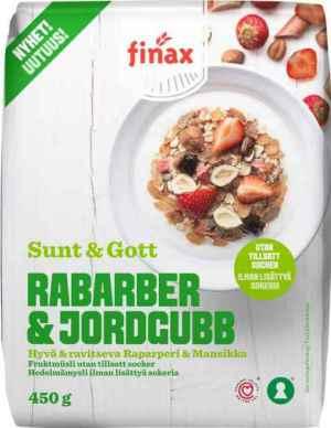 Prøv også Finax sunt og gott rabarber og jordgubb.