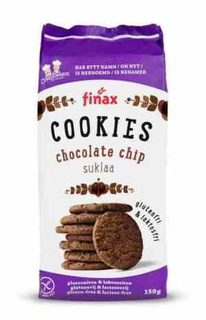 Prøv også Finax glutenfri chocolate chip cookies.