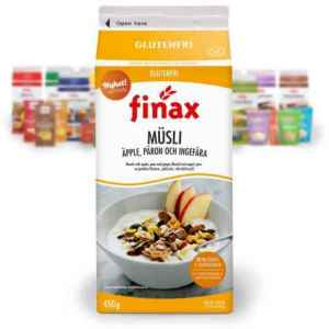 Prøv også Finax glutenfri musli eple pære og ingefær.