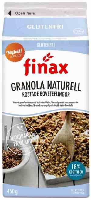 Prøv også Finax glutenfri granola naturell.