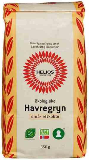 Prøv også Helios havregryn små og lettkokte.