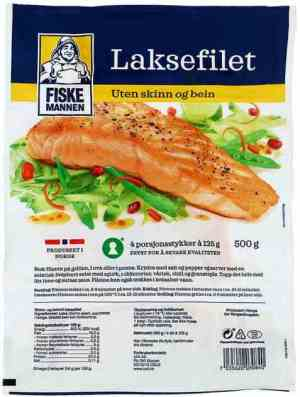 Prøv også Fiskemannen laksefilet uten skinn beinfri.