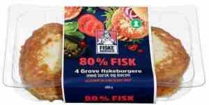 Prøv også Fiskemannen fiskeburger 80% med torsk og bacon.