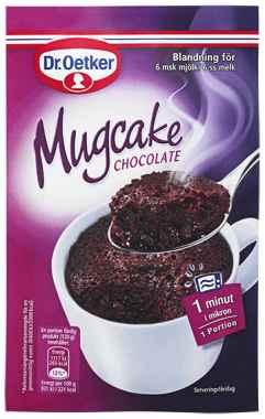 Bilde av DrOetker Mugcake Chocolate.