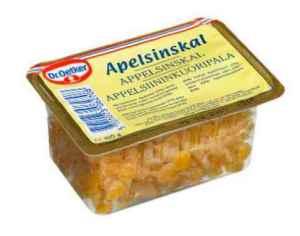 Prøv også DrOetker appelsinskall.